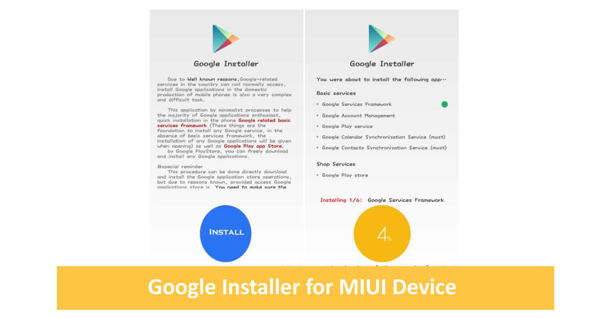 Download Google Installer v3.0 Apk Xiaomi Terbaru